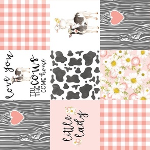 Little Lady//Love you till the cows come home - wholecloth cheater quilt - rotated