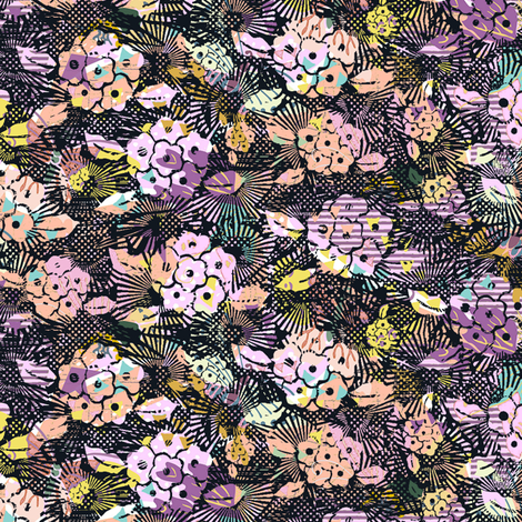 multicolored flowers fabric by susiprint on Spoonflower - custom fabric