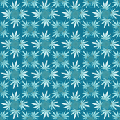 ★ CHECKERED WEED in TEAL ★ Collection : Cannabis Factory 2 – Marijuana, Ganja, Pot, Hemp and other weeds