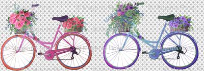 Vintage bike with flowers // Covent Garden Flower Market Vintage Bikes