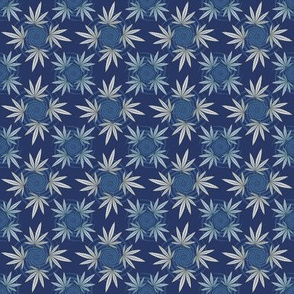 ★ CHECKERED WEED ★ Navy Blue / Collection : Cannabis Factory 2 – Marijuana, Ganja, Pot, Hemp and other weeds prints