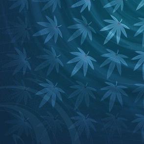 ★ DIZZY WEED ★ Blue / Collection : Cannabis Factory 2 – Marijuana, Ganja, Pot, Hemp and other weeds prints