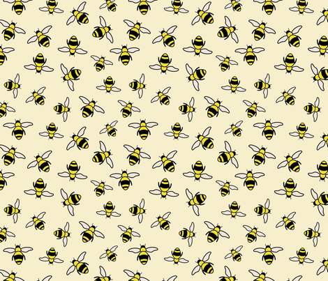 Bees-01 fabric by wiebe_designing on Spoonflower - custom fabric