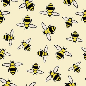Bees with yellow background