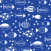 Fishies (Dark Blue)