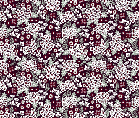 Winter Holiday Floral fabric by dearchickie on Spoonflower - custom fabric