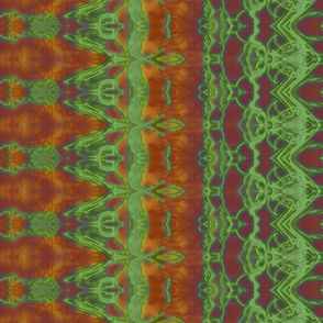 Kaleid Bohemian Wings Pattern Stripe