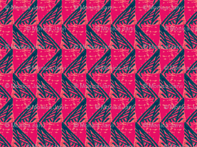 Abstract Houndstooth-Summer Pop
