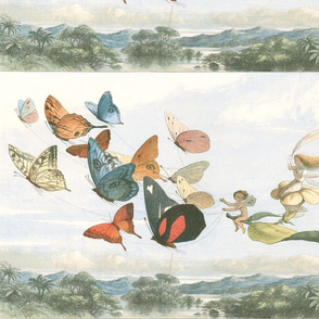 Vintage Butterfly Fairy for Pillow