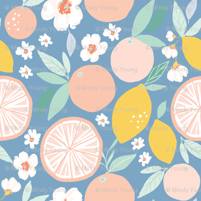 Indy bloom design Grapefruit Lemon B