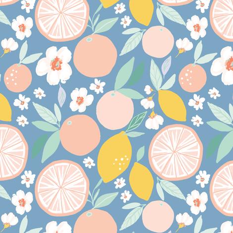 Indy bloom design Grapefruit Lemon B fabric by indybloomdesign on Spoonflower - custom fabric