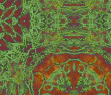 Kaleid Bohemian Wings Kaleided fabric by pissykrissy on Spoonflower - custom fabric
