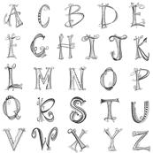 Doodle Alphabet A-Z