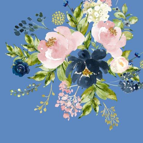 Rindigoandpinkfloralbouquetbrightblue_shop_preview