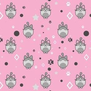 Kawaii Kitty In Pink