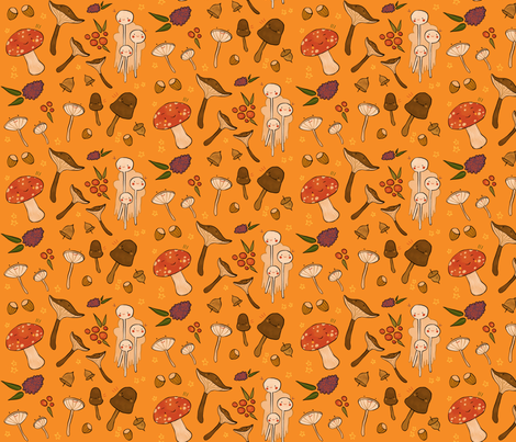 Fall Foraging fabric by annadenesyk on Spoonflower - custom fabric