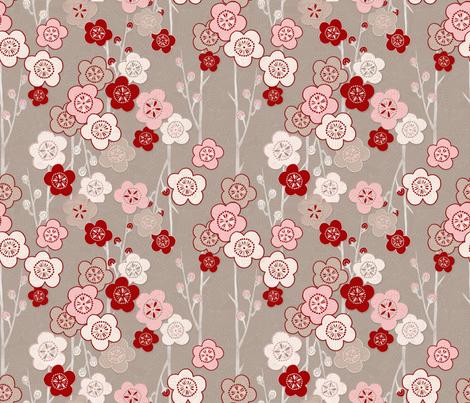 Ikebana fabric by j9design on Spoonflower - custom fabric