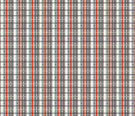 Plaid - Grey, Red, H White fabric by fernlesliestudio on Spoonflower - custom fabric