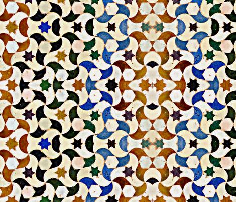 Moorish Tile Design fabric by ampersand_designs on Spoonflower - custom fabric