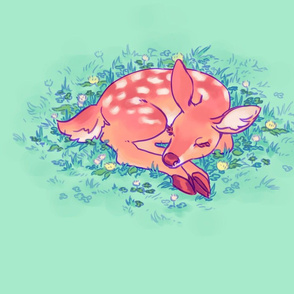 Sleeping Fawn Pillow