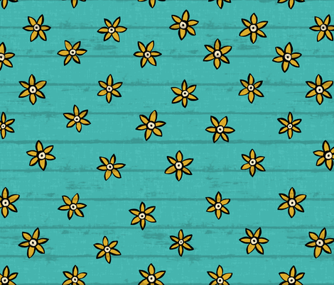 zuhur turquoise fabric by scrummy on Spoonflower - custom fabric