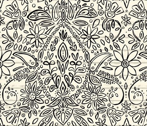 aziza mono fabric by scrummy on Spoonflower - custom fabric