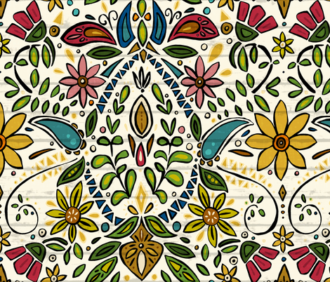 aziza pearl fabric by scrummy on Spoonflower - custom fabric