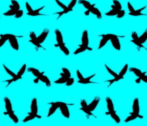 Birds in Silhouette fabric by ampersand_designs on Spoonflower - custom fabric