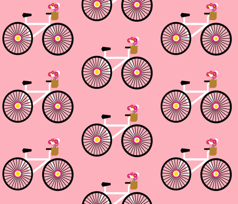 Bubblegum Bicycles fabric by dnbmama on Spoonflower - custom fabric