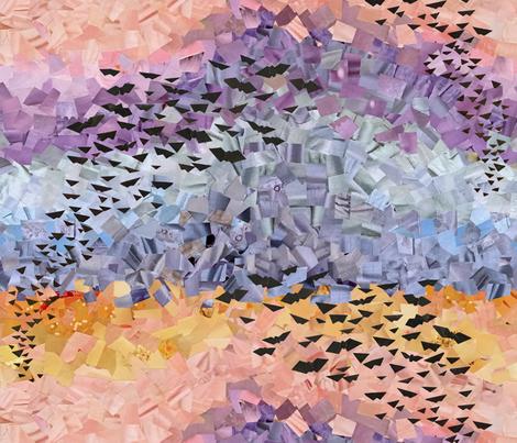 Bats at Twilight fabric by cricketswool on Spoonflower - custom fabric