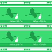 Baby Mint Stork