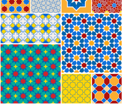 moroccan patterns fabric by ekaterinap on Spoonflower - custom fabric