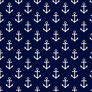nautical anchors navy and white fabric classic ocean nautical fabrics
