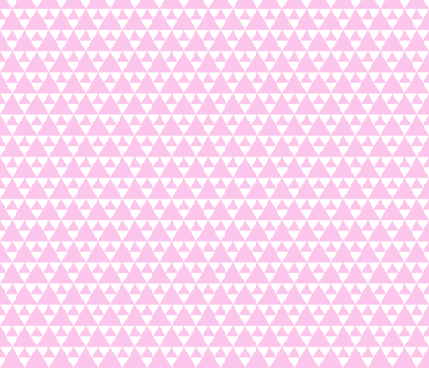 Triangles - light pink fabric by vivdesign on Spoonflower - custom fabric