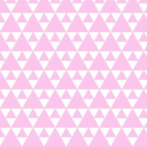 Triangles - light pink