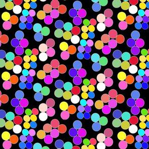 Colorpots on black