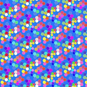 Colorpots on blue