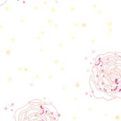 pink silhuett roses