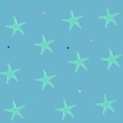 small starfish on dusky blue