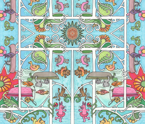 Summer Sun = Water Fun fabric by edsel2084 on Spoonflower - custom fabric