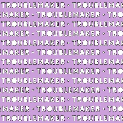 Troublemaker (purple) fabric by littlearrowdesign on Spoonflower - custom fabric