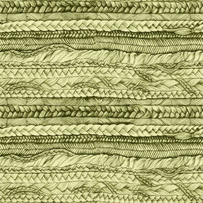 Braided Railroaded in Olive Green