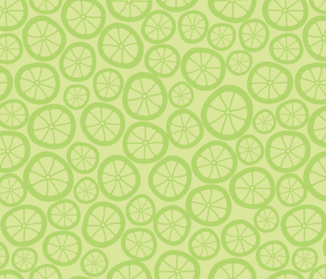 Lime Slices fabric by jenna_b_designs on Spoonflower - custom fabric