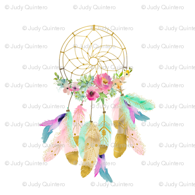 "8"" Baby Mermaid Dreamcatcher - White"