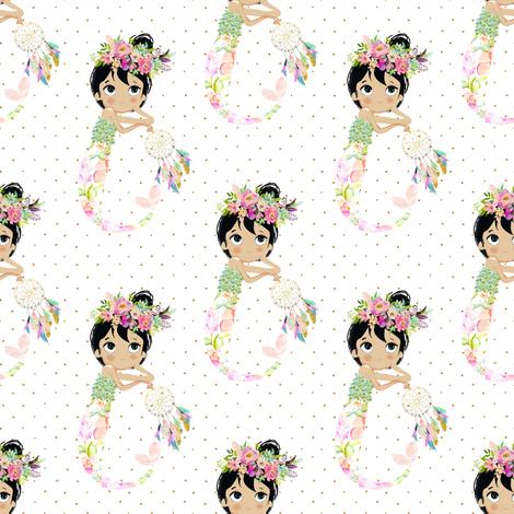 "4"" Baby Mermaid - Polka Dots fabric by shopcabin on Spoonflower - custom fabric"