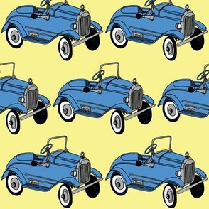 1920's Child's Pedal Car blue on yelow