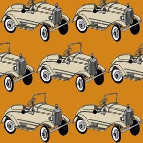 Tan 1920's Child's Pedal Car