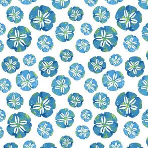 Sand dollar Blue block print