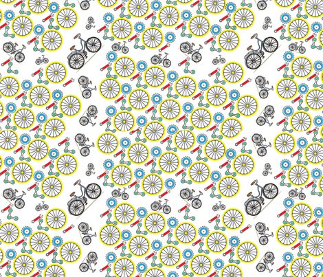 Bicicleta fabric by lindsayj on Spoonflower - custom fabric