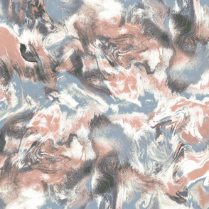 Marble Mist Terra Cotta Blue